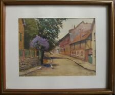Watercolour° Village View Street° Architecture Botany Landscapes Impressionist
