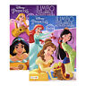 2PC Disney Princesses Coloring Book Jumbo Activity Pad Books Kids Children Girls