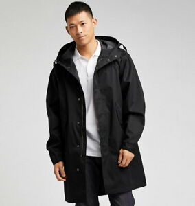 Uniqlo Blocktech Fishtail Parka Techwear Waterpoof Windproof Jacket Black L
