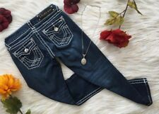 Boutique LA Idol Rhinestoe Crystal Denim Capris  jEANS Women's size 1