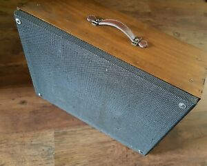 Vintage 12 Inch Guitar Cabinet made out of Wine Box with Laney Speaker