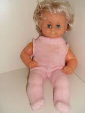 Schlenkerpuppe Baby Puppe Mädchen 37 cm gemarkt Heike Schlafaugen Haare DDR ?