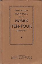 """Morris TEN-Quattro serie """"M"""" operazione manuale? 1930s PRIMA RISTAMPA EDIZIONE SUPERBA"""