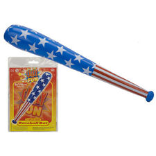 "Inflatable Baseball Bat 36"" Blow- Stars stripes Beach Party Fancy Dress USA Bats"