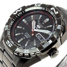 NEW SEIKO 5 SPORTS SNZJ11J1 SNZJ11JC Automatic Black Men's Watch With Tracking