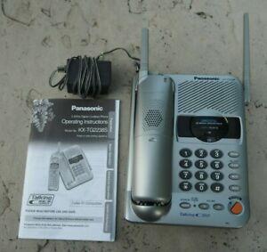 Panasonic KX-TG2238S Cordless Landline Telephone w/Answering System - WORKS