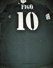 Authentic Figo Real Madrid Black Jersey 2001 2002 Portugal Camiseta Shirt NEW!