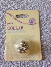 Pet At Home Collar Accessorise - 3 Chrome Bells - New & Sealed