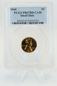 1960-P PCGS PR67RD CAM Small Date Lincoln Cent Proof 1C *RARE*