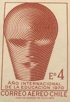 Vintage Chile 1970  CORREO AEREO Año Internacional de la Educacion STAMP  USED