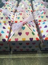 WHOLESALE JOBLOT 48 HEART PATTERN GIFT BOX, PARTY,FAVOUR BOX,BIRTHDAY,JEWELLERY