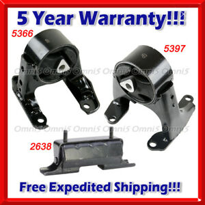 M580 For 2006-2010 Hummer H3 / H3T 3.5L 3.7L Front Motor & Trans Mount Set 3 pcs