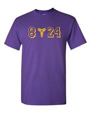 Kobe T-shirt Bryant T-Shirt GOAT Black Mamba 8 24 Logo LA Lakers Shirt