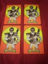 LOT of 4 Mighty Morphin Power Rangers ID Card license plastic personal info card