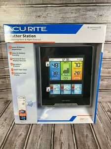 NEW AcuRite 02007A1 Weather Station Remote Wireless Temp Clock Pressure Color