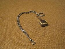 ███► vecchio orologio da tasca catena con rimorchio-um 1890 (VASSOIO 32)