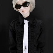 DOLLMORE BRAND NEW Model Doll Size - Cross Necktie (White)