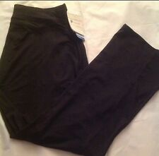 "NWT Russell Dri-Power Black Yoga Pants Size XL 33"" Long"