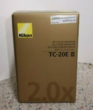 Nikon TC-20E III 2x Teleconverter for AF-S & AF-I Lense with Pouch Brand New