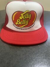 Vintage Jelly Belly Jelly Beans Mens Red Trucker Hat Rare Snapback Cap !