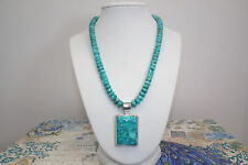 HSN J King Andean Blue Turquoise .925 SS Pendant & Bead Necklace Was $214.90 NIB