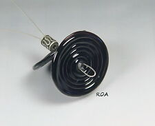 ROA Lampwork 2 Black 3 x 25 mm USA Handmade Disc Art Glass Beads SRA