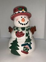 Rare Vintage Large 5 Piece Stackable Snowman Cookie Jar Made In China