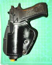 "Front Line QUAD53C-BK AMBI Leather Kydex Paddle IWB Holster 3.8/"" Baby Eagle FSL"
