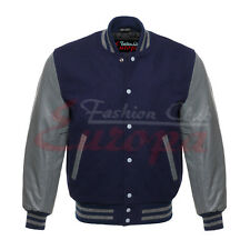 Top quality Varsity Letterman Wool Jacket with Leather Sleeves
