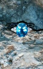 Beautiful Natural 14kt 14k Gold Blue Topaz Ring (2-3/4 ct. t.w.) No Reserve