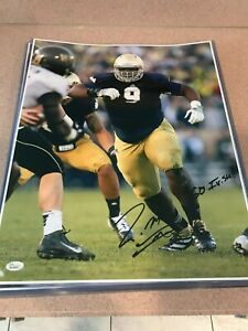 Signed 16X20 LOUIS NIX University of Notre Dame  Autographed photo - JSA