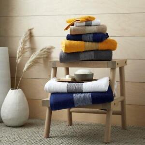 2Pcs BAINSFORD Egyptian Cotton 600Gsm Soft Absorbent Hand,Bath Towel ,Bath Sheet