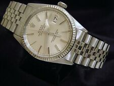 Mens Rolex Stainless Steel/18K White Gold Datejust Jubilee w/ Silver Dial 16014