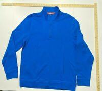 Calvin Klein Quarter Zip High Neck Pullover - Blue - Large