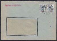 SBZ BZH 170 IV Paar Hettstedt MeF Firmen Brief, geprüft Dr. Modry BPP, 1948