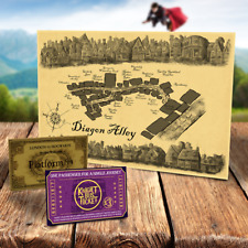 Harry Potter Diagon Alley Karte Gratis Knight Bus Ticket & Hogwarts Express
