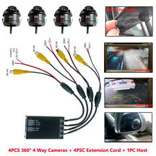 Auto Parking Panoramic View Rearview Camera System 360 Degree View+4x Cameras