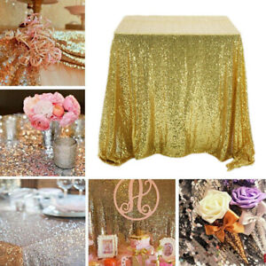 Rectangle Sequin Glitter Tablecloth Sparkly Table Cloth Cover Wedding Party 1PC