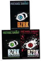 Michael Grant Berserk Series 3 Books Collection Set Bzrk, Reloaded, Apocalypse