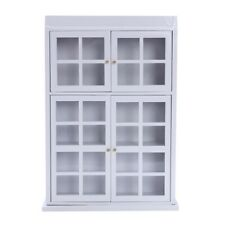 1/12 Dollhouse Miniature Furniture Kitchen Dining Cabinet Display Shelf Whi Z5U3