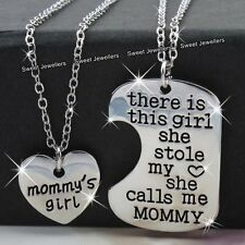 BLACK FRIDAY Mother & Daughter Silver Heart Necklaces Xmas Sale Gifts For Her