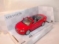 """Volvo C70 Convertible Red Die Cast Metal Model Car 5"""" Kinsmart Collectable New"""