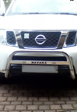 NISSAN Navara D40 Low Bull Bar Nuge Bar(70mm) S.Steel  2006-2009 WITH TEXT