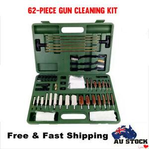 62Pcs Universal Gun Cleaning Kit Tactical Rifle Pistol Shotgun Hunting Brushes