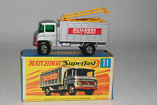 MATCHBOX SUPERFAST #11 MERCEDES SCAFFOLDING TRUCK, EXCELLENT, BOXED TYPE G