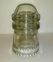 Hemingray 9 Clear Glass Insulator 45-47 Vintage Antique Telephone Line  003