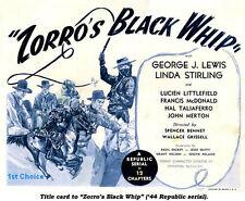 Zorro's Black Whip - Cliffhanger Serial DVD  Linda Stirling George J. Lewis