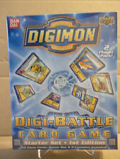 Digimon DIGI-BATTLE Factory Sealed 2 Player Starter Deck-First Edition FREE SHIP