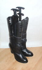 NEW Schuh ladies black leather pull on ankle boots size UK 8 EU 41