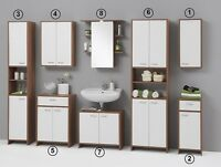 Madrid White Bathroom Units Cabinet. 5 Piece Mix&Match.